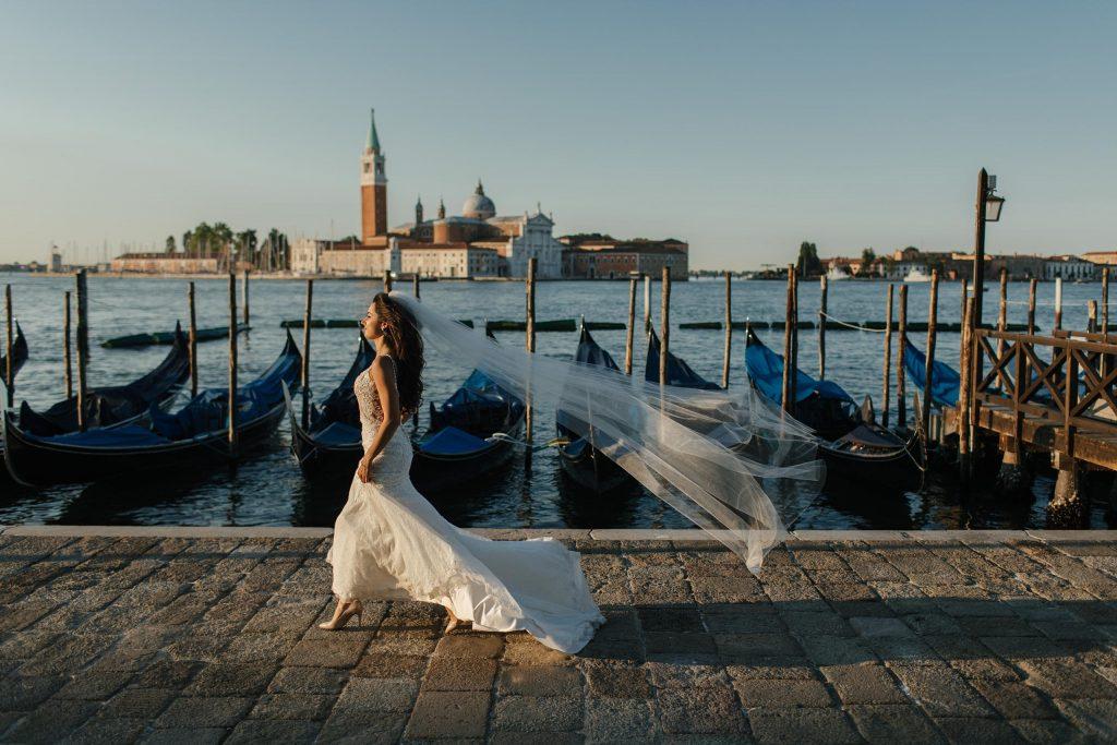 Romantyczna sesja ślubna w Wenecji