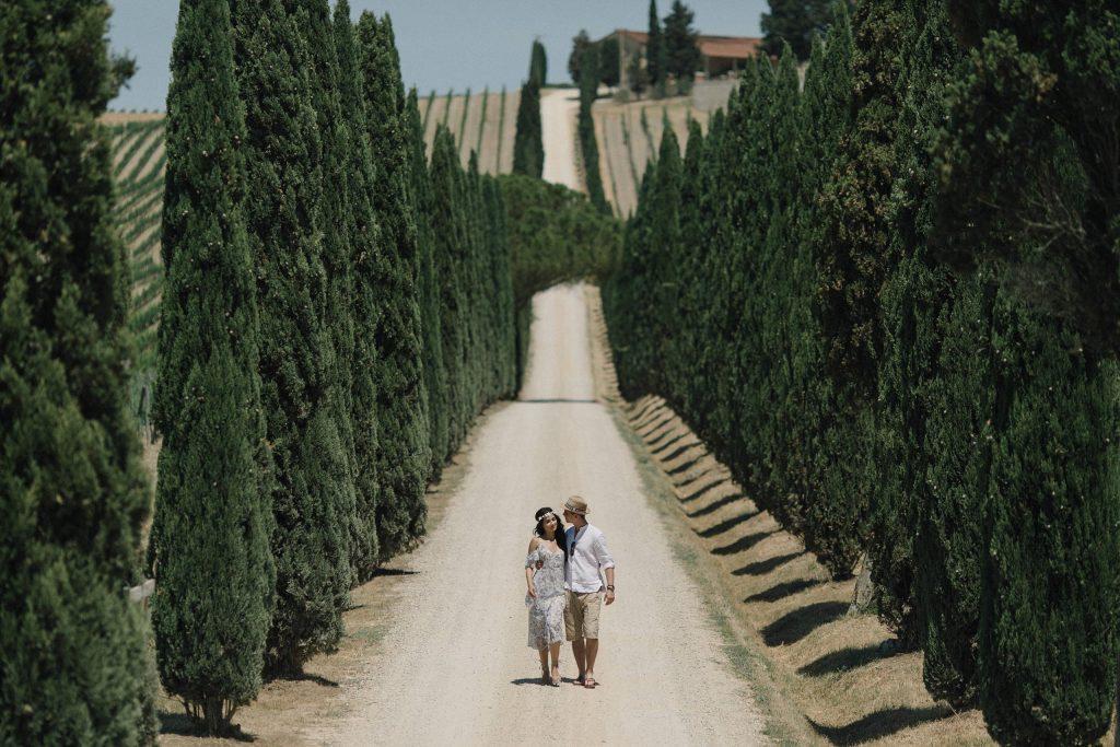 Romantyczna sesja narzeczeńska w Toskanii