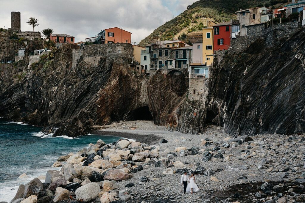Sesja ślubna na plaży we Włoszech