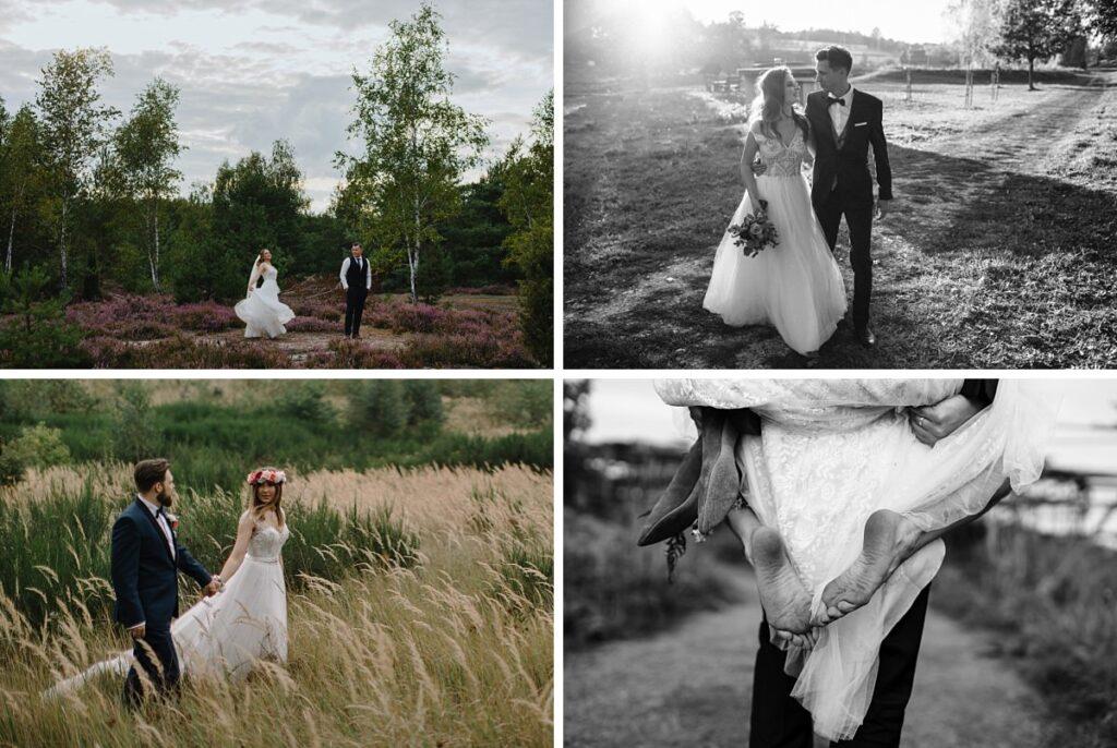 Sesja ślubna na łąkach