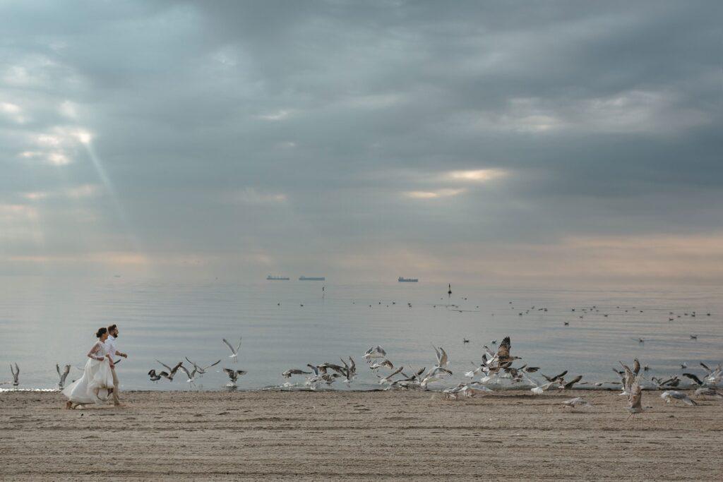 Sesja ślubna nad morzem Gdynia - Orłowo